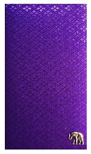Purple Thai Fabric Guest Check Presenter, Server Checkbook Restaurant Ticket Holder, Waitstaff Organizer, Server Book, Waitress Book with Money Pocket, Waitress Accessories by Kathy