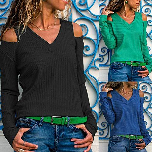 Longues Tunique Femme Hiver Pull Top Elecenty Sweater Hauts Noir Manches Chic Pullover Chaud V Col Tricot Tricoté Automne w1q1zx56