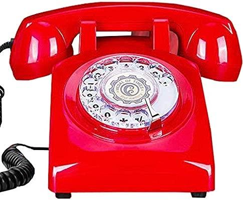 Relaxbx Teléfono Retro Europeo/Tocadiscos Retro para el ...