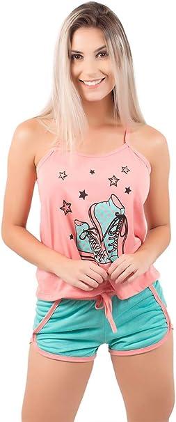 Pijama Short Doll Baby Gabriela em Viscose, Coral (GG) | Amazon.com.br