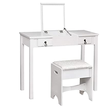 Groovy Amazon Com Vanity Table Set With Flip Top Mirror Ncnpc Chair Design For Home Ncnpcorg
