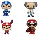 Funko Megaman: POP! Games Collectors Set Includes Megaman, Rush, Protoman & Dr. Wily
