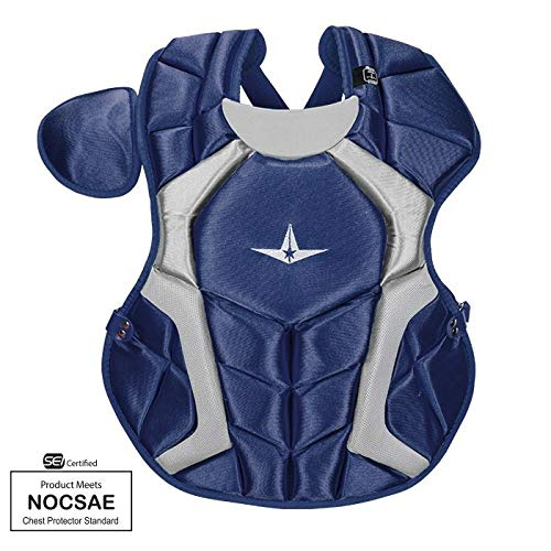 All-Star CPCC1216PS Navy 15.5 in 12-16 Player Series Chest Protector SEI/NOCSAE