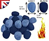 20(Black and grey) Pebbles Replacement /Bio Fuels/Ceramic/Boxed/