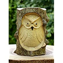 G6 Collection Unique Handmade Wooden Owl From Crocodile Wood Decor Statue Handcrafted Art