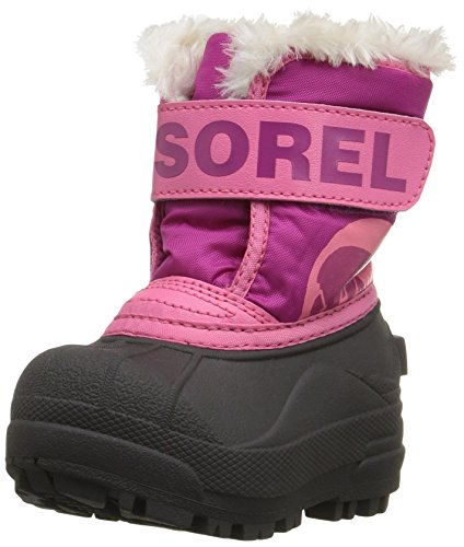 (Sorel Kids' Commander-K Snow Boot, Tropic Pink, 6 M US Toddler)