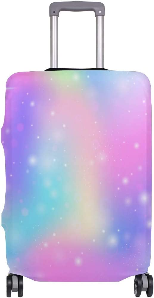 VIKKO Colorful Unicorn Rainbow Travel Luggage Cover Suitcase Cover Protector Travel Case Bag Protector Elastic Luggage Case Cover Fits 29-32 Inch Luggage for Kids Men Women Travel