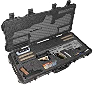 Case Club Pre-Cut IWI Tavor Waterproof Rifle Case with Accessory Box & Silica Gel to Help Prevent Gun