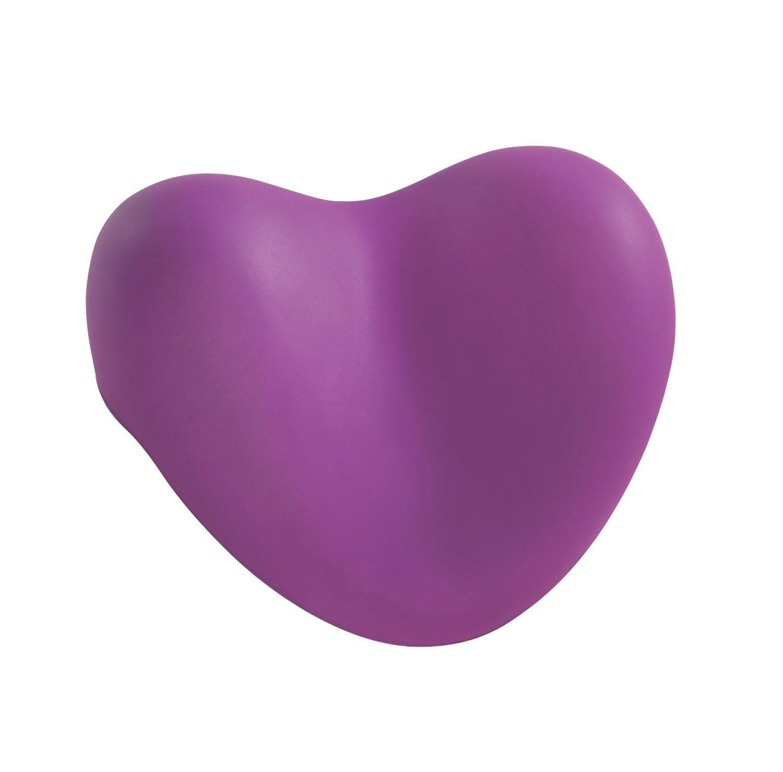 Wenko Coussin de nuque en forme de cœur pour la baignoire violet