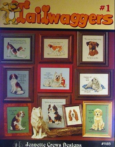 Tailwaggers #1, Cross Stitch (Jeanette Crews Designs #1193) Jeanette Crews Designs