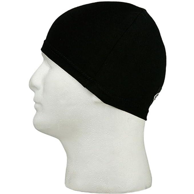 Amazon.com  Schampa Stretch Skull Cap Black Sklcp002-0 Helmet Liner ... bdf0d942f51