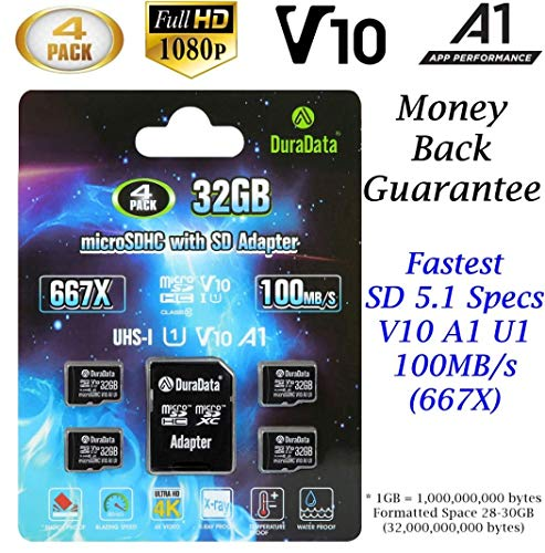 4-Pack 32GB Micro SD SDHC Card Plus