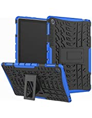 For Huawei Mediapad M5 Lite 10.1 inch Armor Tough Rugged Impact Strong Anti Crack Full Body Protective Hybrid Defender Kickstand Case Cover
