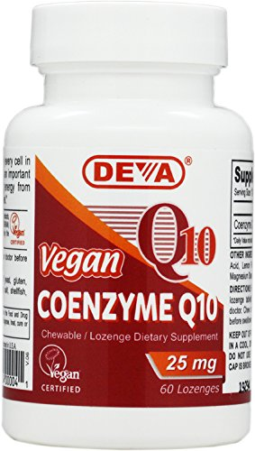 Deva Vegan Vitamins Coenzyme Q10 Tablets, 25mg, 60-Count Bottle