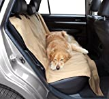 """Floppy Ears Design Waterproof Durable and Tough Traditional Pet Seat Protector Cover, Tan, One Size 54"""" W (across the seats) x 60"""""""