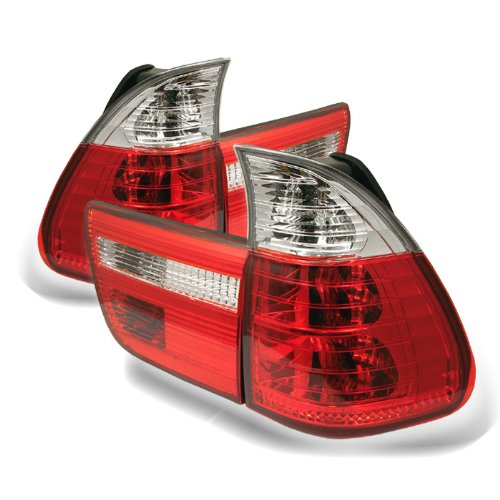 Spyder Housing Red Clear - Spyder Auto BMW E53 X5 Red Clear Tail Light