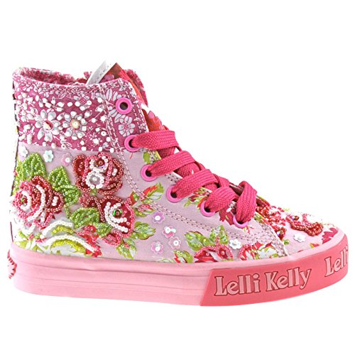 Lelli Kelly LK9210 (BX02) Multi Fantasy Eliza Patchwork Mid Boots-35 (UK 2.5)