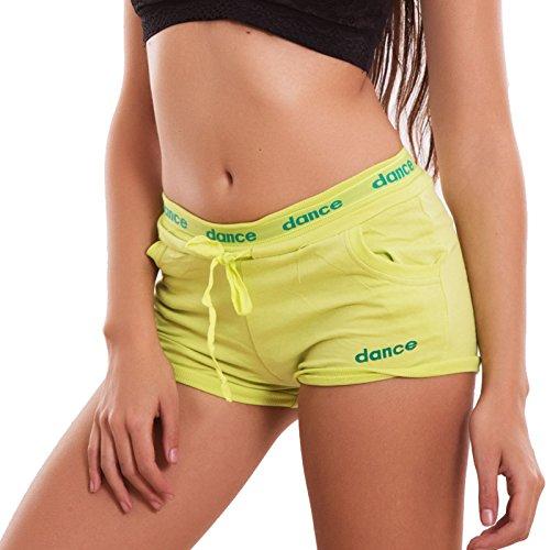 Toocool - Pantalón corto deportivo - para mujer Verde acido