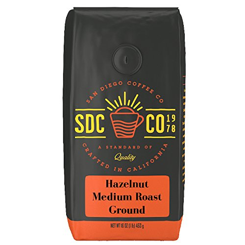 San Diego Coffee Hazelnut, Normal Roast, Ground, 16-Ounce Bag