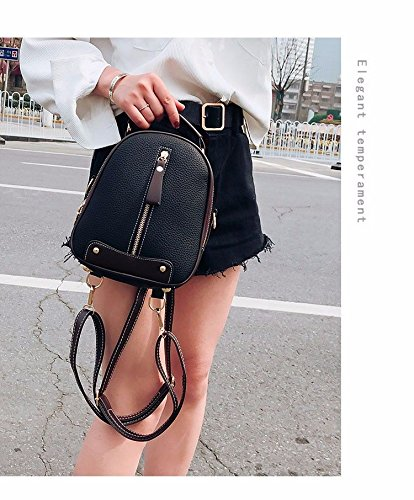 Nero mano femminile Mini piccola a Borsa Fashion Pack doppia Borsa a spalla 0nzRPWqqcY
