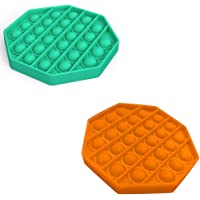 Push pop pop Bubble Sensory Fidget Toy, 2 Pack Autism Special Needs Stress Reliever Silicone Stress Reliever Toy…