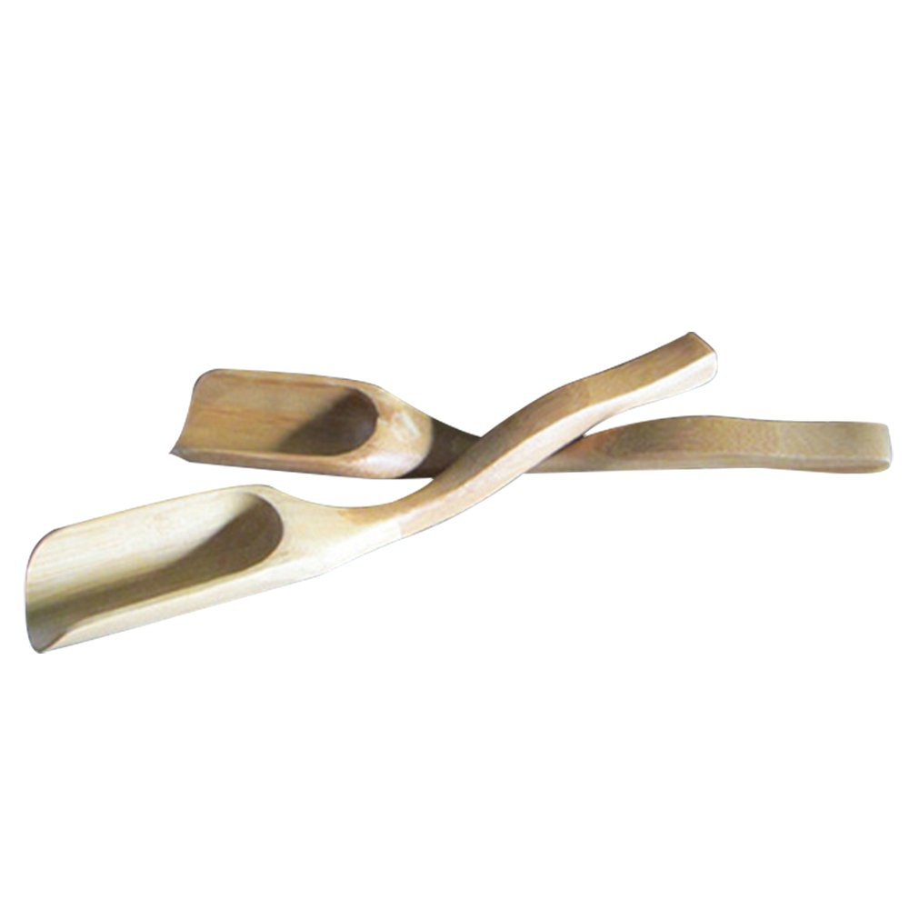 2Pcs Portable Matcha Green Tea Powder Spoon Japanese Style Ceremony Chashak Hooked Bamboo Scoop Tool Accessories Gosear