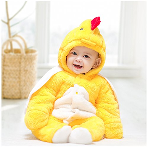 Cow Bunting Costume (Onesie, MagicQK Chicken Costume Toddler Winter Baby Jumpsuit Xmas from Newborn to 18 Months (12-18M/28