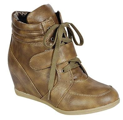 d45786ebaba Reneeze BEATA-01 Womens Wedge Sneaker Booties
