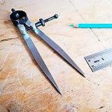 ZLKSKER 6 Inch Adjustable Lockable Steel Divider