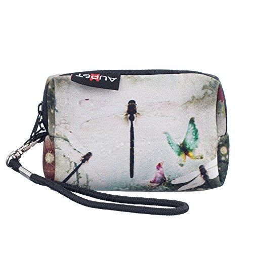 AUPET Dragonfly Retro Design Digital Camera Case Bag Pouch Coin Purse with Strap for Sony Samsung Nikon Canon Kodak