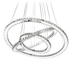Interior Lighting MEEROSEE Crystal Chandeliers Modern LED Ceiling Lights Fixtures Chandelier Lighting Dining Room Pendant Lights… modern ceiling light fixtures