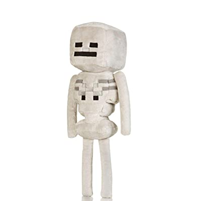 "JINX Minecraft 12"" Skeleton Plush Stuffed Toy (with Display Box): Toys & Games"