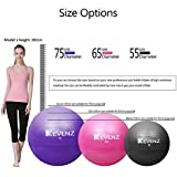 KEVENZ Exercise Bands,Yoga Pull Ring,Fitness Magic Ring,Pilates Ring,Yoga Wheel and Yoga Block,Exercise Ball (Black,55cm)