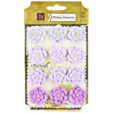 Prima Marketing Avante Paper Flowers, 1-Inch, Lilac, 12-Pack