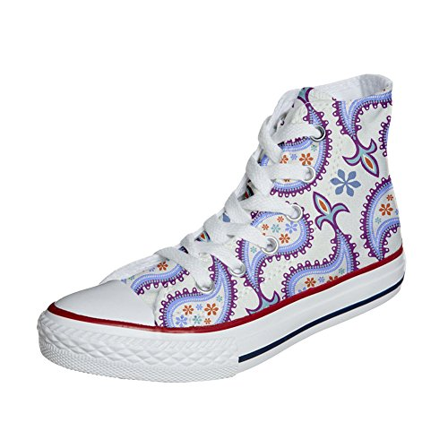 Handwerk personalisierte Schuhe All Paisley Converse Decorative Customized Star Produkt awtXIqAp