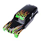 Utini RC Car Spare Parts Shell for Traxxas Grave Digger RC 1 10 RTR Truck - (Color: Green)