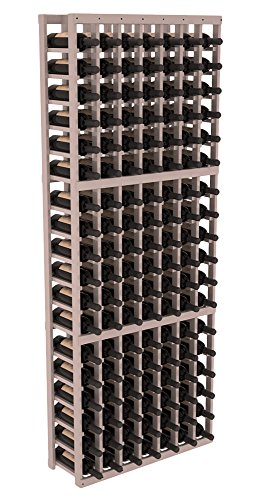 Wine Racks America Redwood 7 Column Wine Cellar Kit. Grey Wash Stain + Satin Finish ()