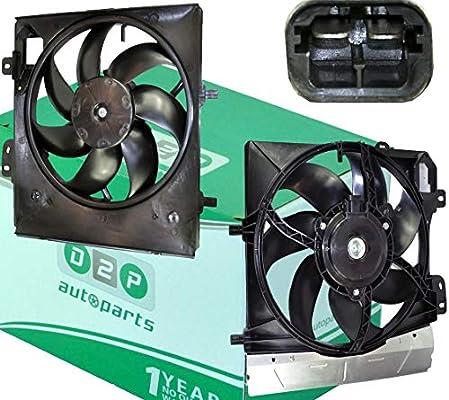 D2P para Citroen C2 1.1, 1.4, 1.6 HDI/VTS Radiador de refrigeración Ventilador Motor 1253P8: Amazon.es: Coche y moto