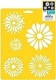 Delta Creative Stencil Mania Stencil, 7 by 10-Inch, 970720710 Daisies