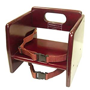 Winco Chb 703 Wooden Booster Seat Mahogony By Winco Kitchen Dining