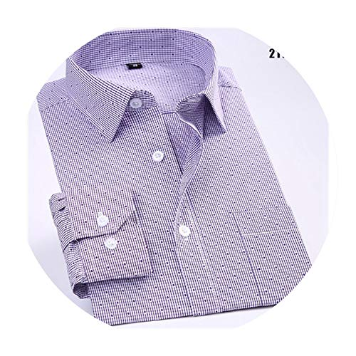 Men Loose Long Sleeve Business Men Shirts Easy Care Striped/Plaid dot Floral Tops for Male