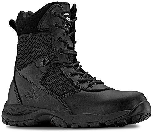 Maelstrom Men's LANDSHIP 8 Inch Military Tactical Duty Work Boot With Zipper