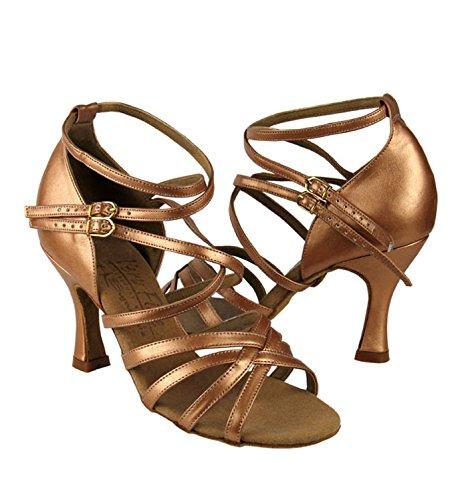 Mesdames Latin / Rhythm- Signature Series Chaussures De Bal, S9206 Cuir Noir