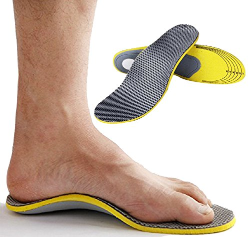 Ailaka Orthotic Cushioning Arch Support Shoe Insole/Inserts, Unisex Daily Sports Insole for Flat Foot Plantar Fasciitis