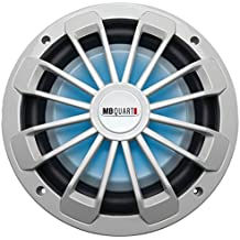 "MB QUART NW1-254L Nautic Series Marine-Certified 10"" 600-Watt Shallow Subwoofer with LED Illumination"
