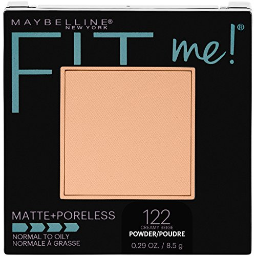 Maybelline New York Fit Me Matte + Poreless Pressed Face Powder Makeup, Creamy Beige, 0.28 Ounce -
