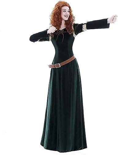 Halloween Costumes For Women Princess.Amazon Com Icos Women Long Dark Green Velvet Halloween Costume Princess Vintage Dress Adult Clothing