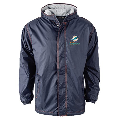 Miami Dolphins Mens Jackets (NFL Miami Dolphins Legacy Nylon Hooded Jacket, Medium, Navy)