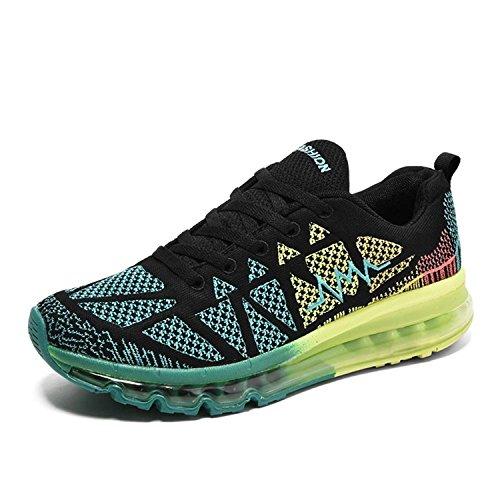 para de Zapatillas Running de Caucho XiXiDiy Negro Mujer xzXR1Rwq