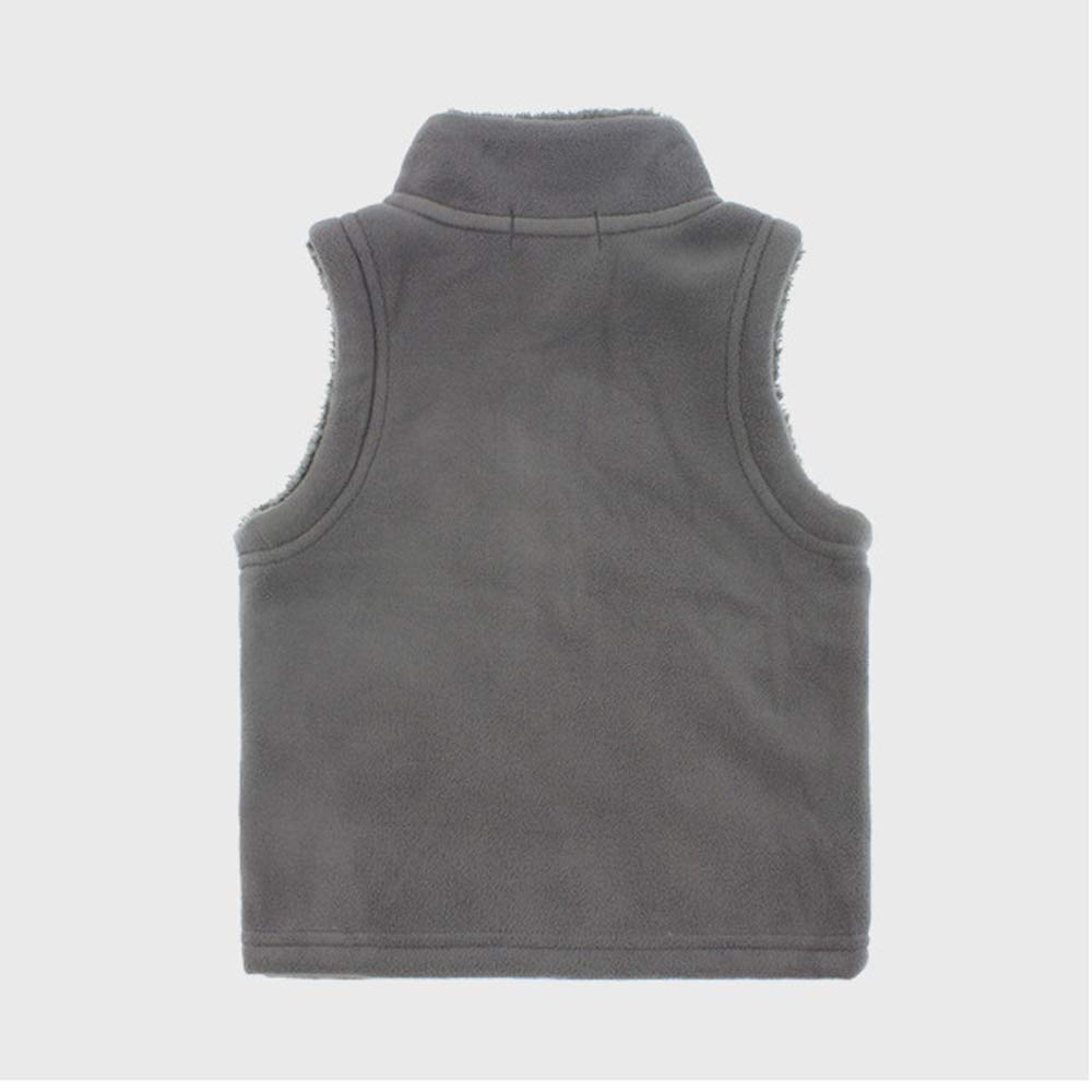 OCHENTA Boys Soft Warm Zipper Fuzzy Polar Fleece Vest
